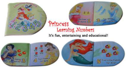 Buku bantal: Princess Learning Numbers