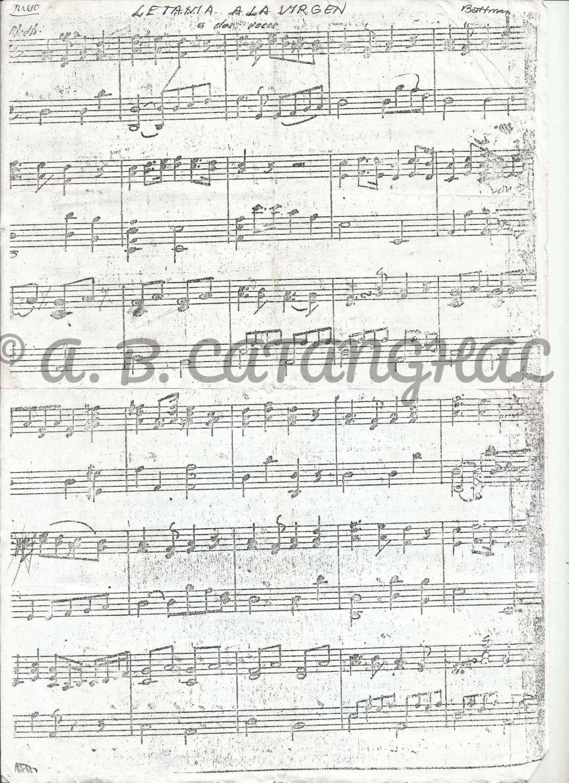 Rosario Cantada's Letania ala Virgen