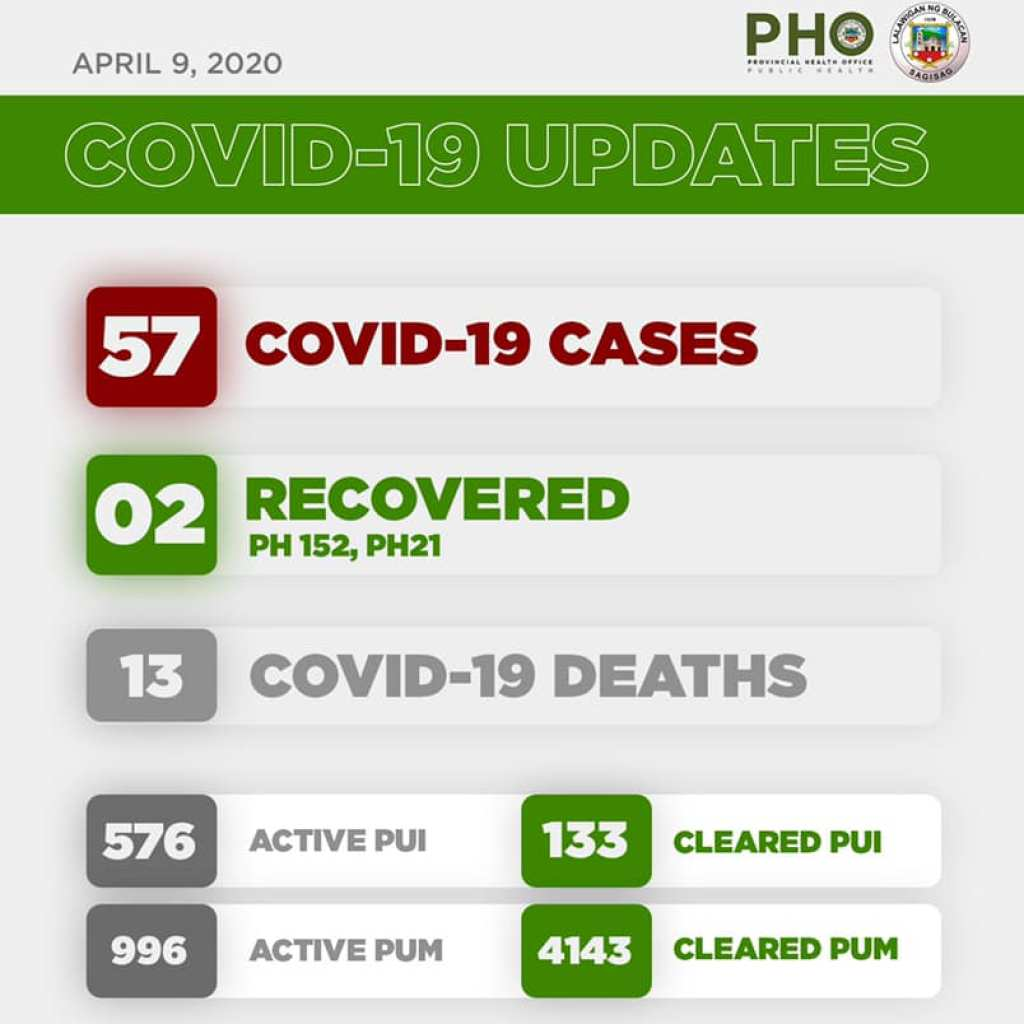 Bulacan COVID-19 Virus Journal Log Book (From First Case up to June 2020) 80