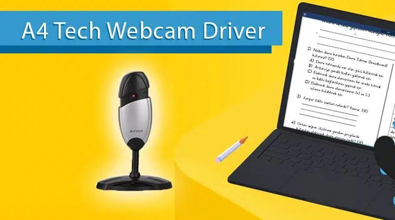 a4 tech webcam driver