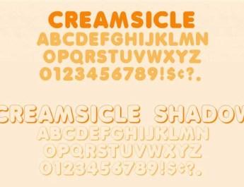 creamsicle font