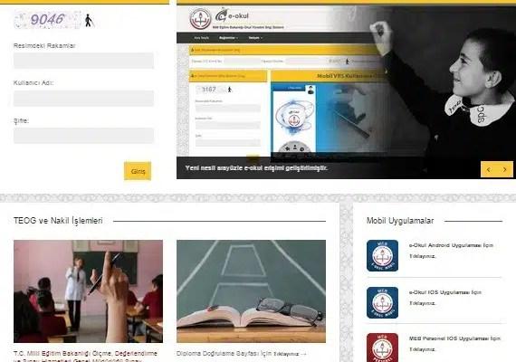 e-okul yenilendi