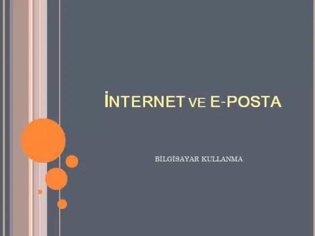 internet ve e-posta yönetini