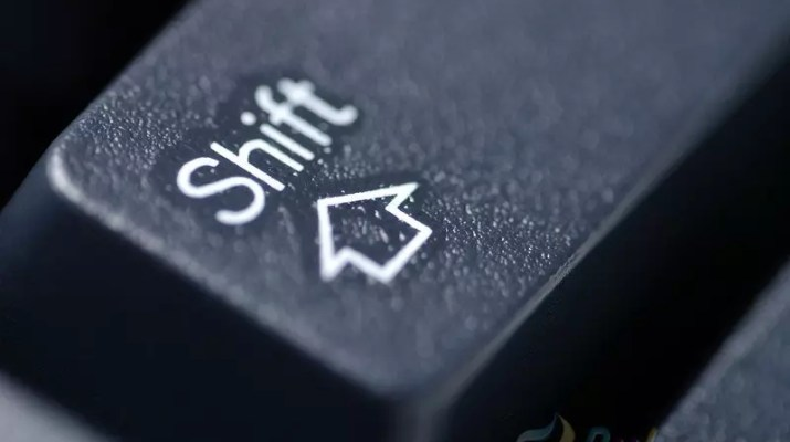 shift tuşu