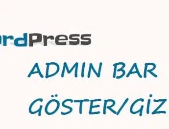 wordpress admin_bar