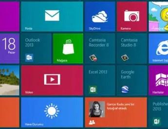 windows 8 arayüzü
