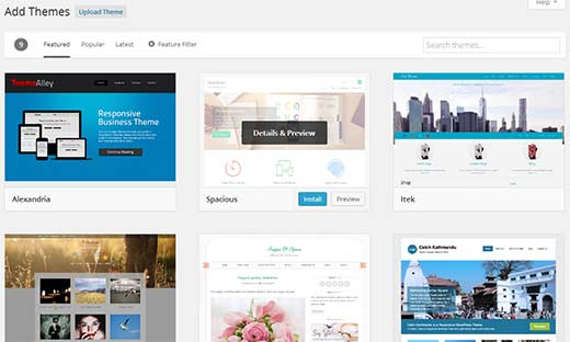 wordpress tema ekle