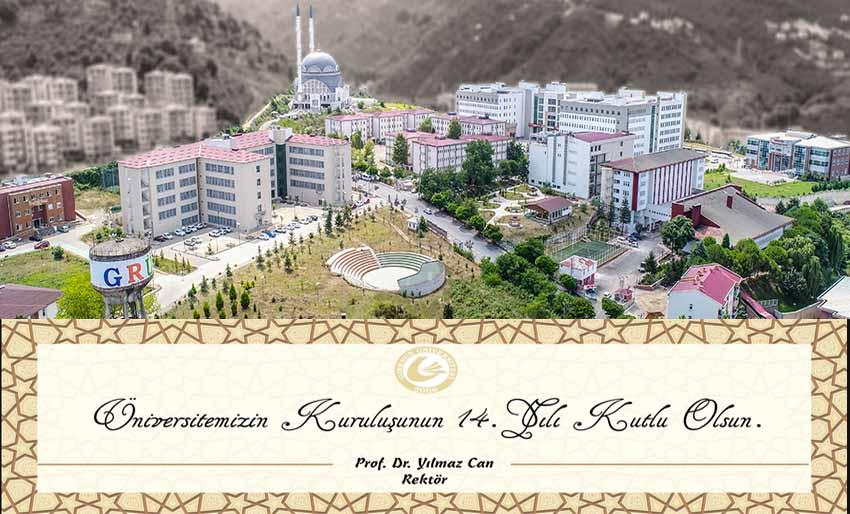 Giresun Üniversitesinin 14.Kuruluş Yıldönümü