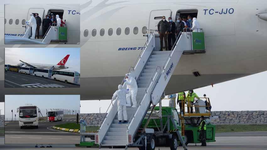 Kuveyt'ten getirilen işçiler Giresun'da karantinada