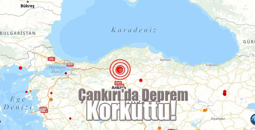 Çankırı'da Deprem Korkuttu!