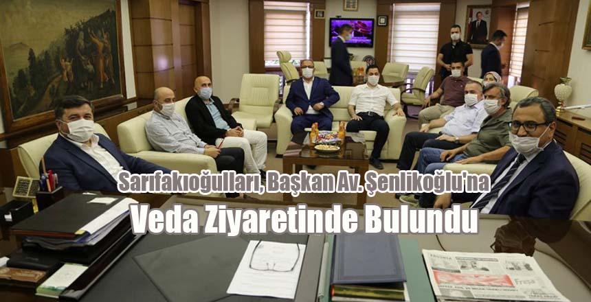 Sarıfakıoğulları, Başkan Av. Şenlikoğlu'na Veda Ziyaretinde Bulundu
