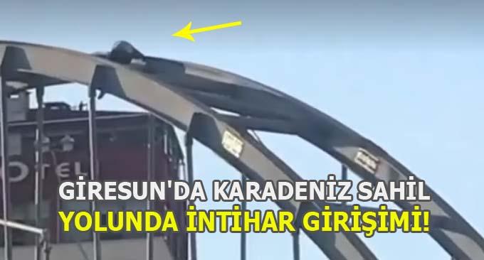 Giresun'da Karadeniz Sahil Yolunda İntihar Girişimi!