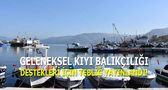 Geleneksel kıyı balıkçılığı destekleri için tebliğ yayınlandı
