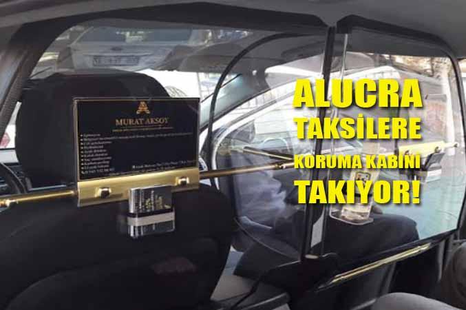 Alucra'da Taksilere Koruma Kabini Takıyor