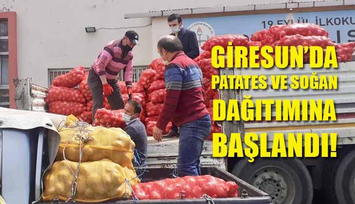 Giresun'da Patates ve Soğan Dağıtımına Başlandı!