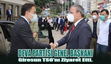 DEVA Partisi Genel Başkanı Giresun TSO'nı Ziyaret Etti.