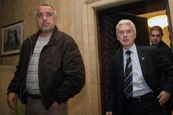 """Лидерът на """"Атака"""" Волен Сидеров (дясно на снимката):"""