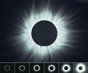 Специалистите препоръчват слънчевото затъмнение да не се наблюдава с невъоръжено око. Най-добре е да се използват очила със специални предпазни филтри (това не са слънчеви очила). Ако не разполагате с такива, можете да си направите филтър с подръчни материали. Подходящи са: тъмното стъкло от предпазните маски на заварчиците, основата с магнитно покритие от дискети, освободени от външната защитна обвивка, метализирано фолио, което се използва за опаковане на цветя и подаръци, стъкло, опушено със свещ. Снимка от Слънчево затъмнение 11.08.1999