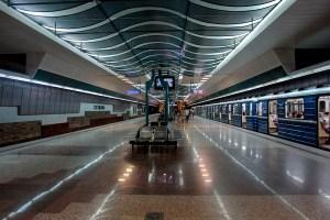 Станция Сердика на българското метро. Софийското метро е първото и единствено метро в България. Влиза в действие на 28 януари 1998 г. Към 8 май 2009 има 13 метростанции с обща дължина 15.9 км .