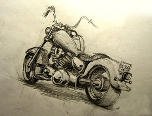 B&W Kawasaki Drifter Daniela Kosta bca dot com