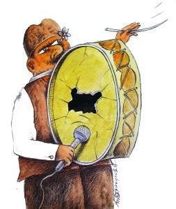 ТУПАН - голям ама празен! На това заприлича нашенската работа  по света и у нас.  Карикатура: Анатоли Станкулов