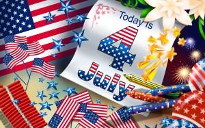 Цветовете на американското знаме – червено, бяло и синьо, станали символи на 4-ти юли, украсяват всички американски градове.Както винаги американските граждани че отбележат деня с паради, пикници, спортни игри и концерти.