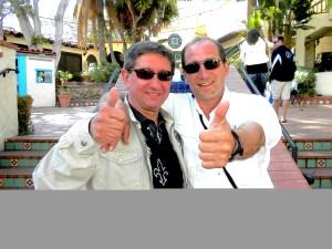 Стоян Колев (л) и Петър Георгиев (д) - треньор и съзтезател от България, приятели и колеги в САЩ.