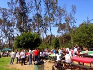 20 Април 2014 г., Сан Диего. Над 200 човека дойдоха на Великденския Събор, за да