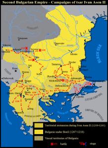 1218-1241 г. - при цар Иван Асен II България има излаз на три морета - Черно, Бяло (Егейско) и Адриатическо. Дори само този период от историята на българскив народ да вземем, можем да проумеем, че той е смес от множество хаплогрупи, определящи генетичната същност на нашенеца. Да не забравяме, че доста по-рано се е появил българският род,. Праисторически култури в българските земи са се появили още през 6-то хилядолетие пр.н.е. Векове наред Българският ген се е променял, като и хаплогрупите.