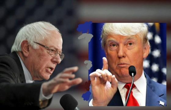 Фаворитите за президент на САЩ Бърни Сандърс (Демократи) и Доналд Тръмп (Републиканци)