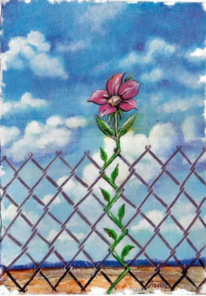 Цвете зад решетките (Flower Behind the Bars) Карикатура: Анатоли Станкулов, bulgarica