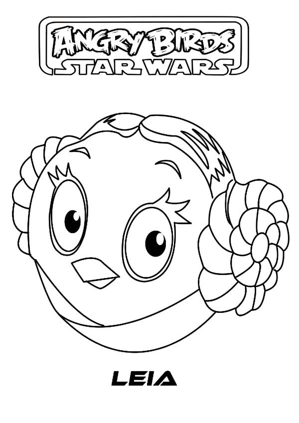 angry bird star wars princess leia coloring pages bulk color