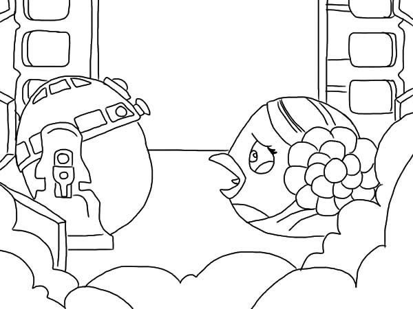 angry bird star wars princess leia crying to r2d2 coloring pages
