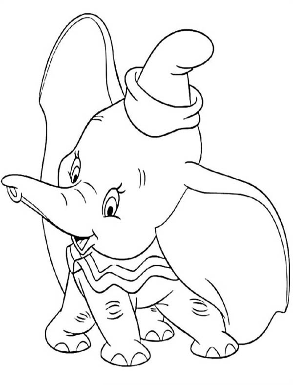 Dumbo The Elephant Coloring Pages. dumbo elephant coloring pages for ...