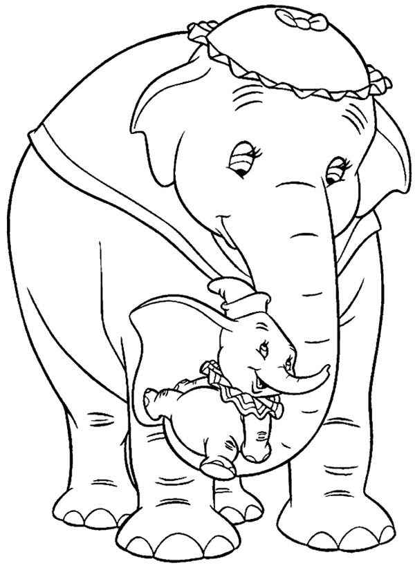 dumbo the elephant lift by his mrs dumbo coloring pages bulk color