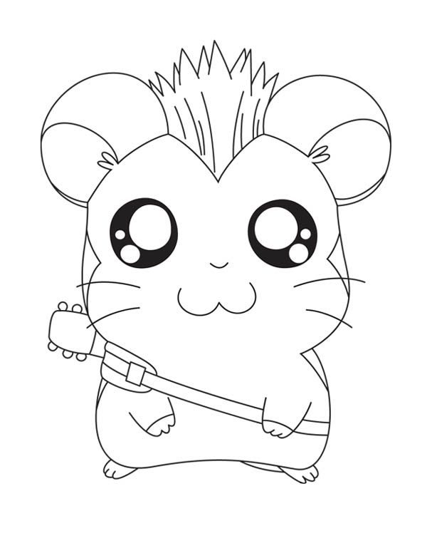 hamtaro the rock star coloring pages bulk color