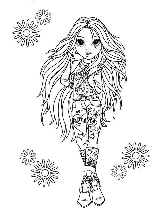 avery the rock star in moxie girlz coloring pages bulk color