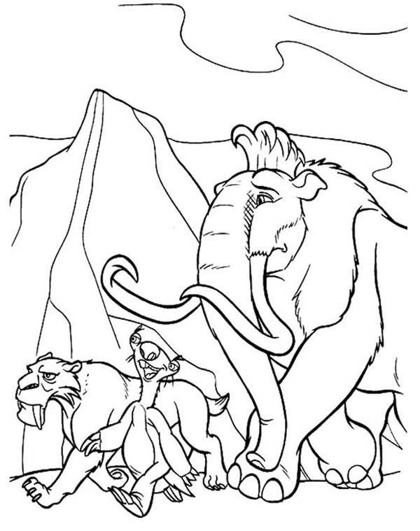ice age adventure coloring pages bulk color