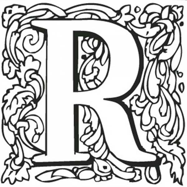 kids learn capital letter r coloring page bulk color