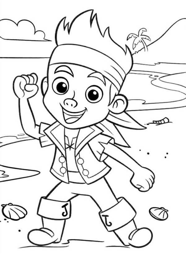chibi jake neverland pirate coloring pages chibi jake neverland