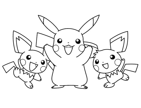 Famous Pokemon Character Pikachu Coloring Pages Bulk Color