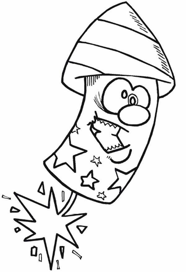 firework sheets coloring pages