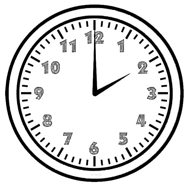 02 clock on analog clock coloring pages bulk color