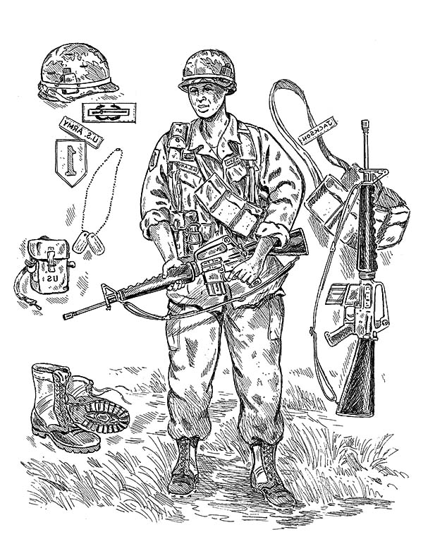an army soldier gear coloring pages bulk color