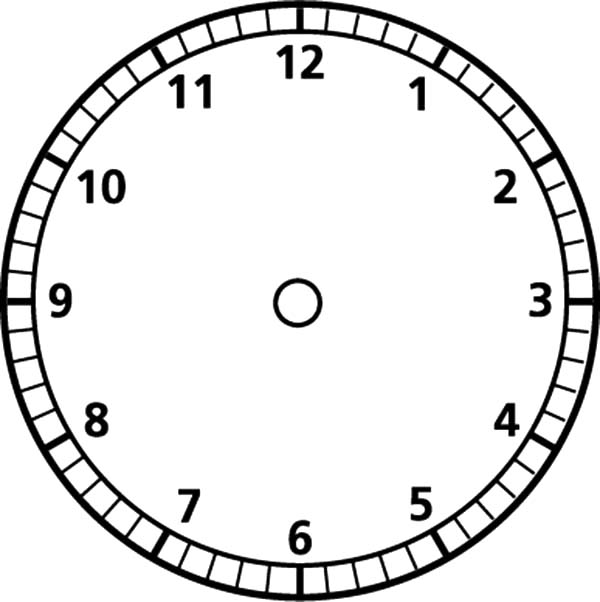 analog clock blank face coloring pages bulk color