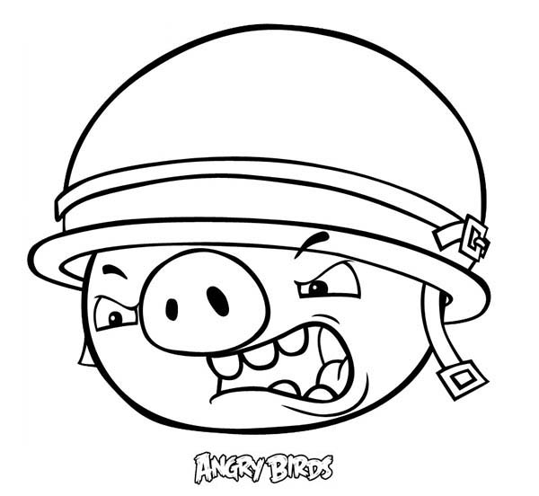 angry bird pigs angry bird pigs soldier coloring pages