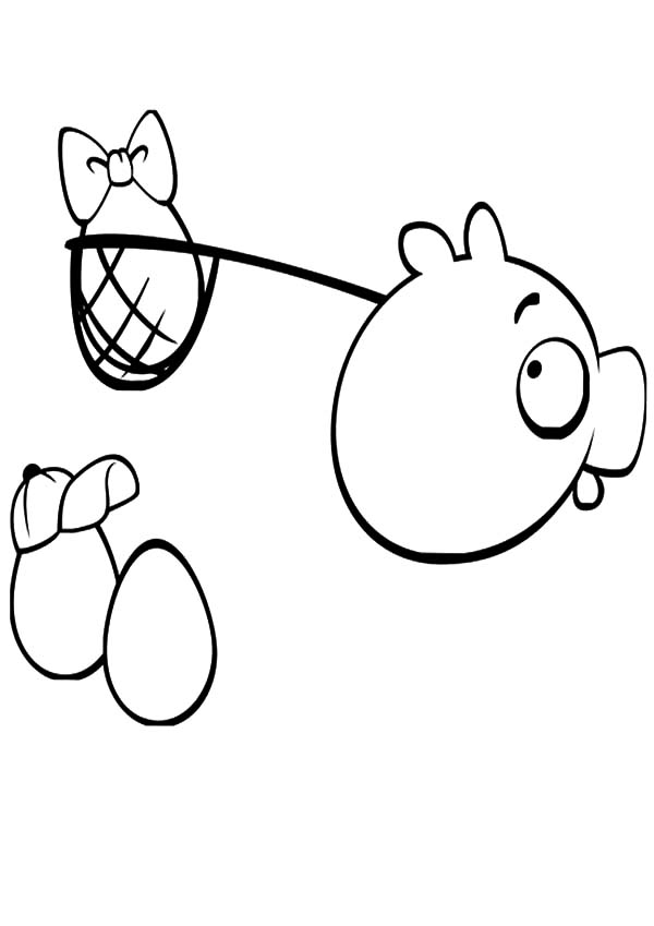angry bird pigs angry bird pigs stole angry bird eggs coloring pages