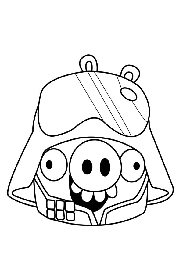 angry bird pigs angry bird pigs as darth vader coloring pages
