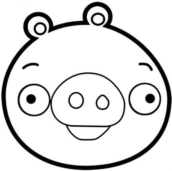 angry bird pigs angry bird pigs is smiling coloring pages