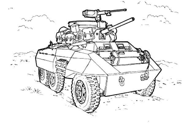 army car for combat coloring pages bulk color